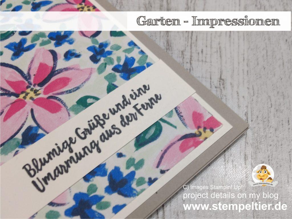 Stampin Up garten impressionen garden impressions blumige grüße aus der ferne