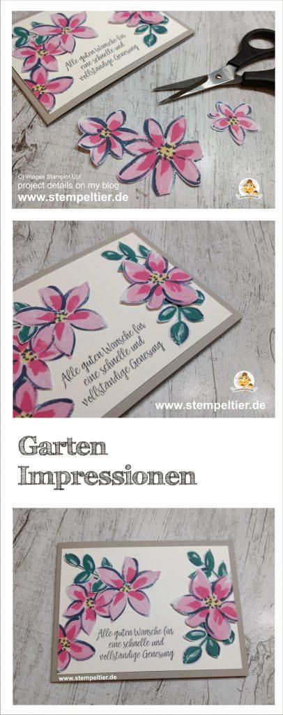 Stampin Up garten impressionen garden impressions gute besserung get well card
