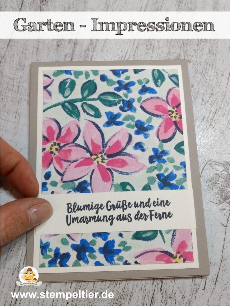 Stampin Up garten impressionen garden impressions stempeltier blumen stempeltier