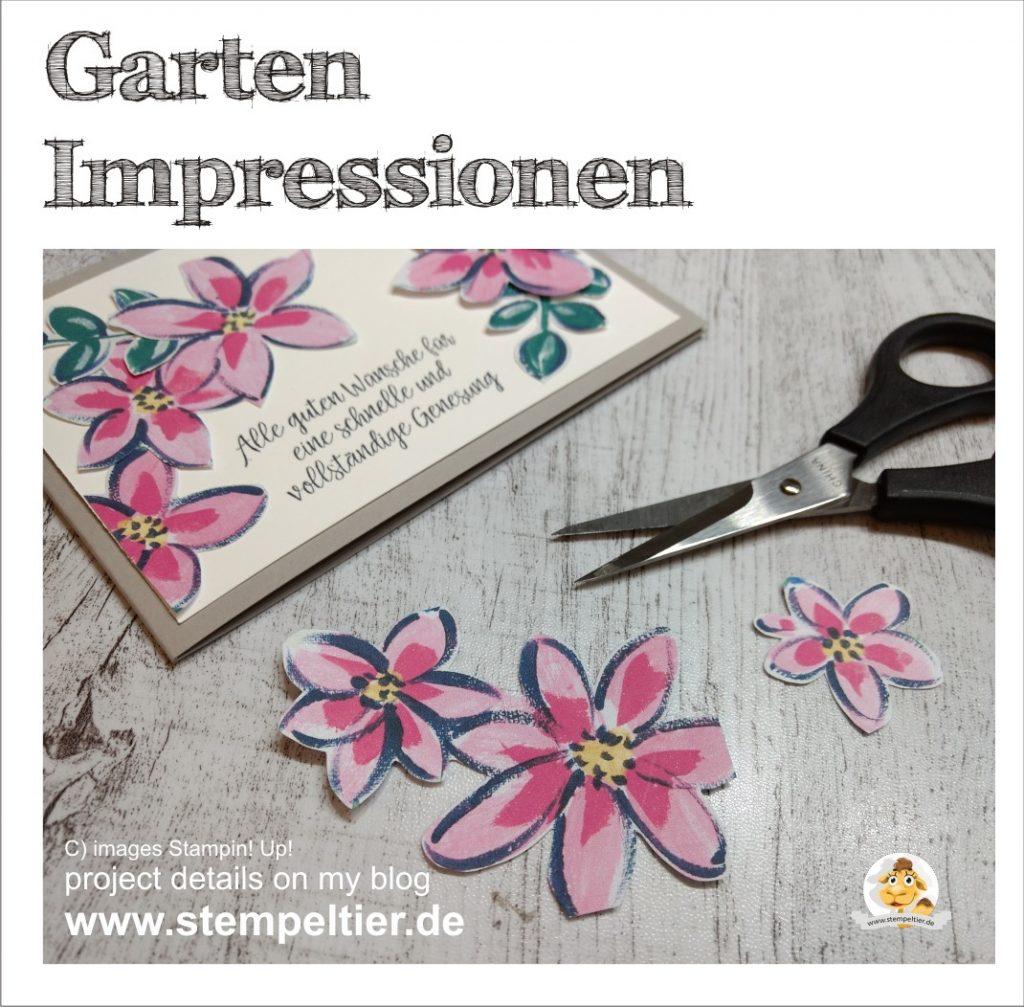 Stampin Up garten impressionen garden impressions stempeltier blumen karte