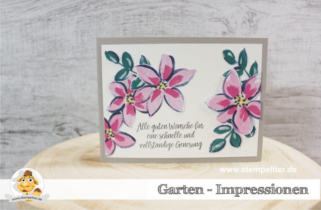 Stampin Up garten impressionen garden impressions stempeltier gute besserung
