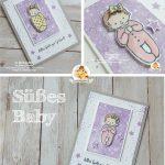 stampin up süßes baby wiegenfest geburt karte mädchen stempeltier