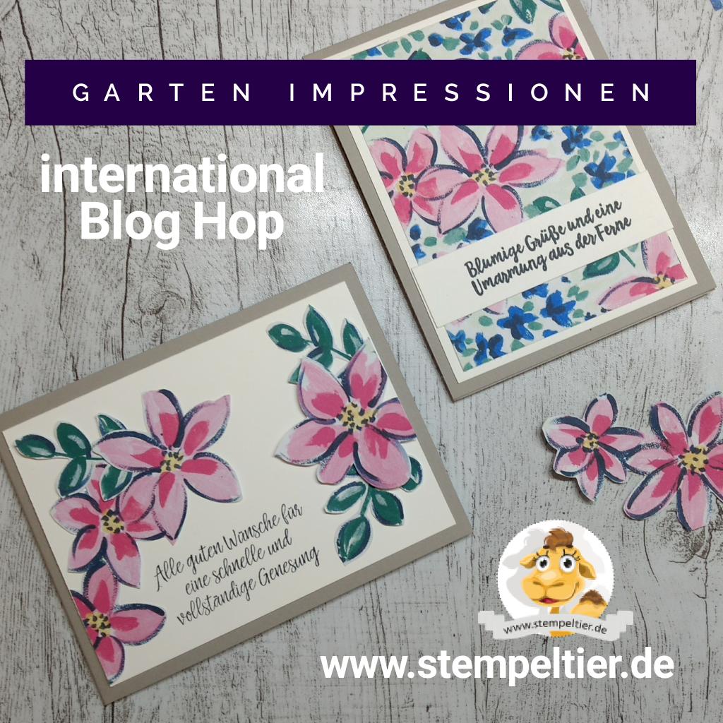 stampin up gartenimpresseionen dsp garden impressions flowers