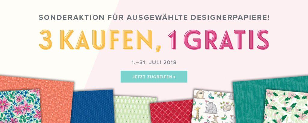 stampin up designerpapier aktion juli 2018 stempeltier