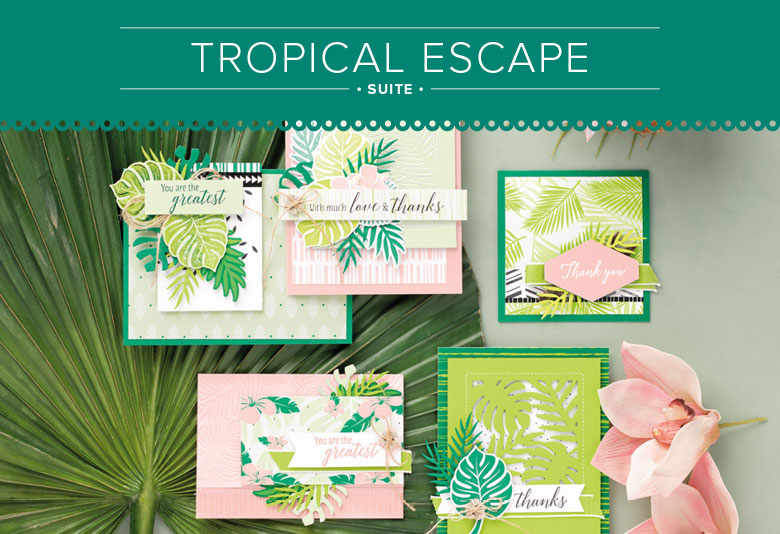 stampin up tropenflair tropical escape sommer