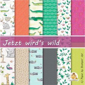 stampin up jetzt wirds wild tiere animal expedition dsp designer paper