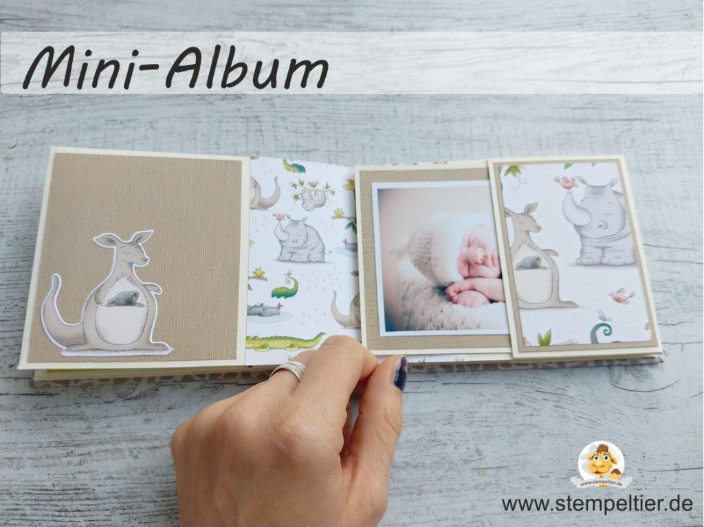 stampin up minialbum baby jetzt wirds wild animal expedition dsp minialbum fotoalbum