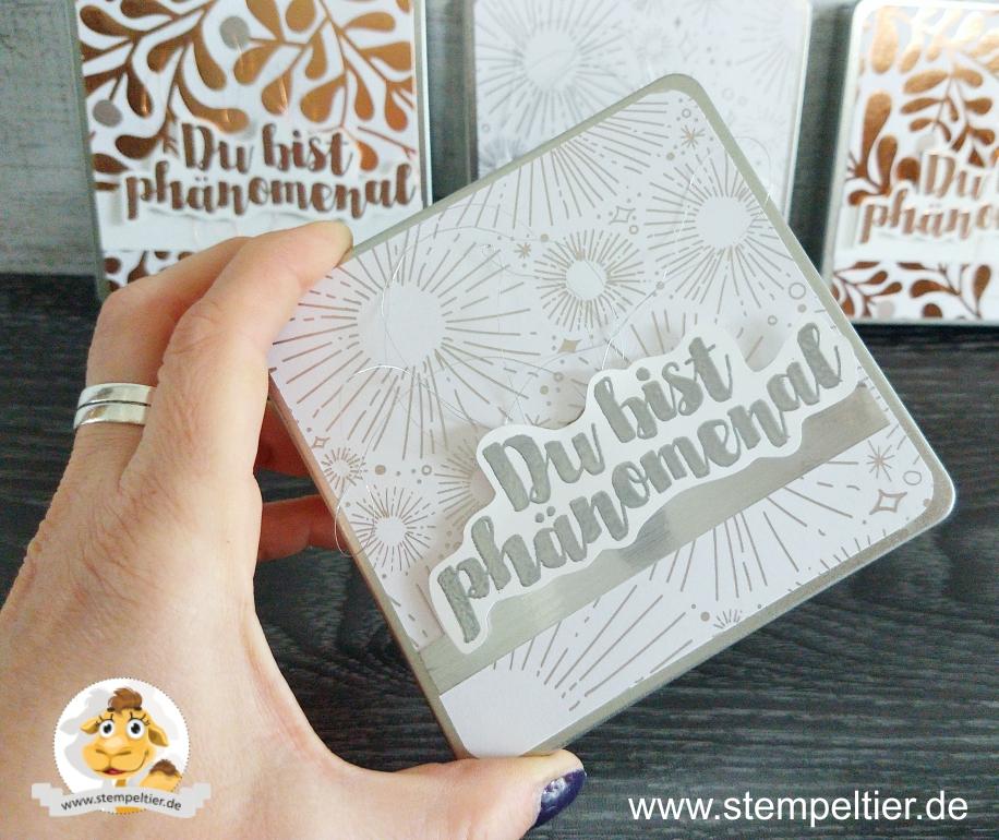 stampin up titelaustieg teampost silber metallbox verpackung geschenk stempeltier