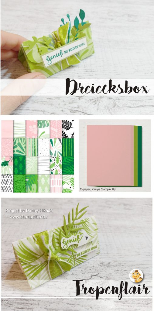 stampin up tropenflair dreiecksbox stempeltier tropical escape dsp
