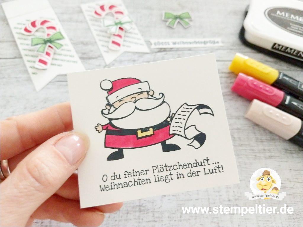 Stampin Up Weihnachtsmann Santa Plätzchen neu weihnachtswerkstatt