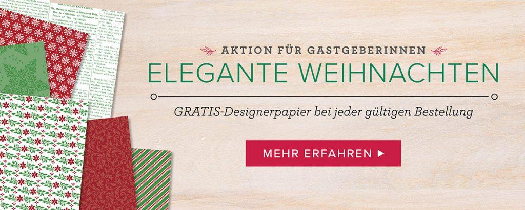 stampin up gratis DSP elegante Weihnachten Aktion Stempelparty Gastgeberin Geschenk
