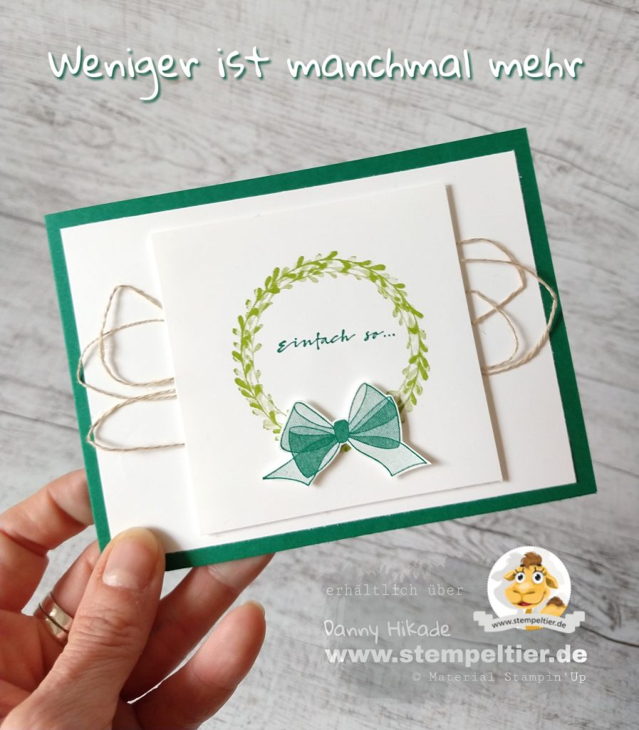 Stampin Up alles gute wishing you well Anfänger schleifen Kranz