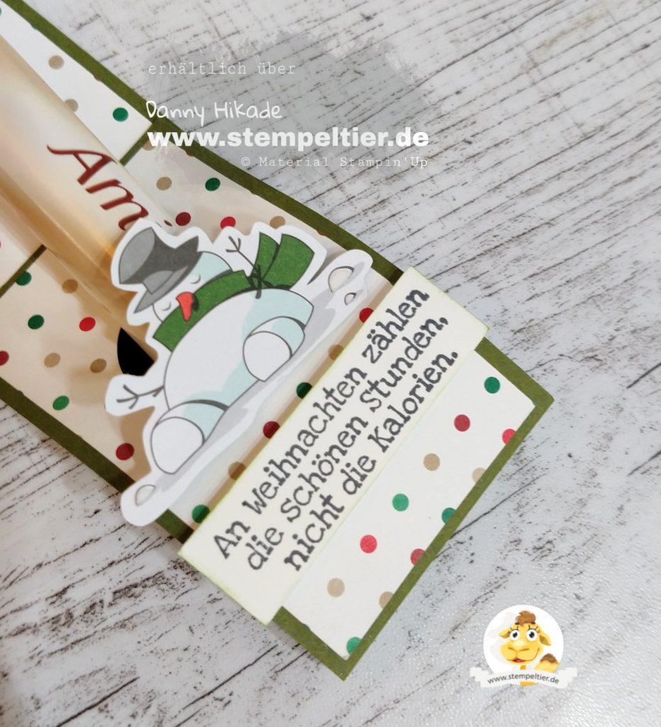 Stampin Up Anleitung Tutorial Maße Verpackung Etiketten Stanze Stempeltier weihnachtswerkstatt