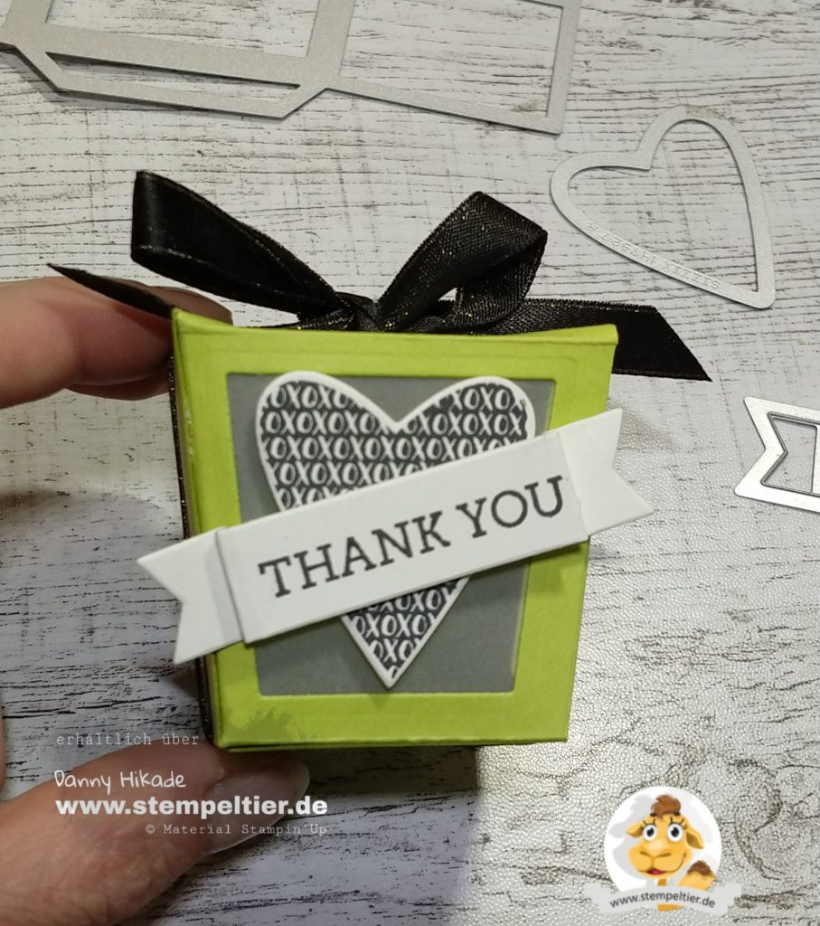 Stampin Up danke treatbox thank you Verpackung