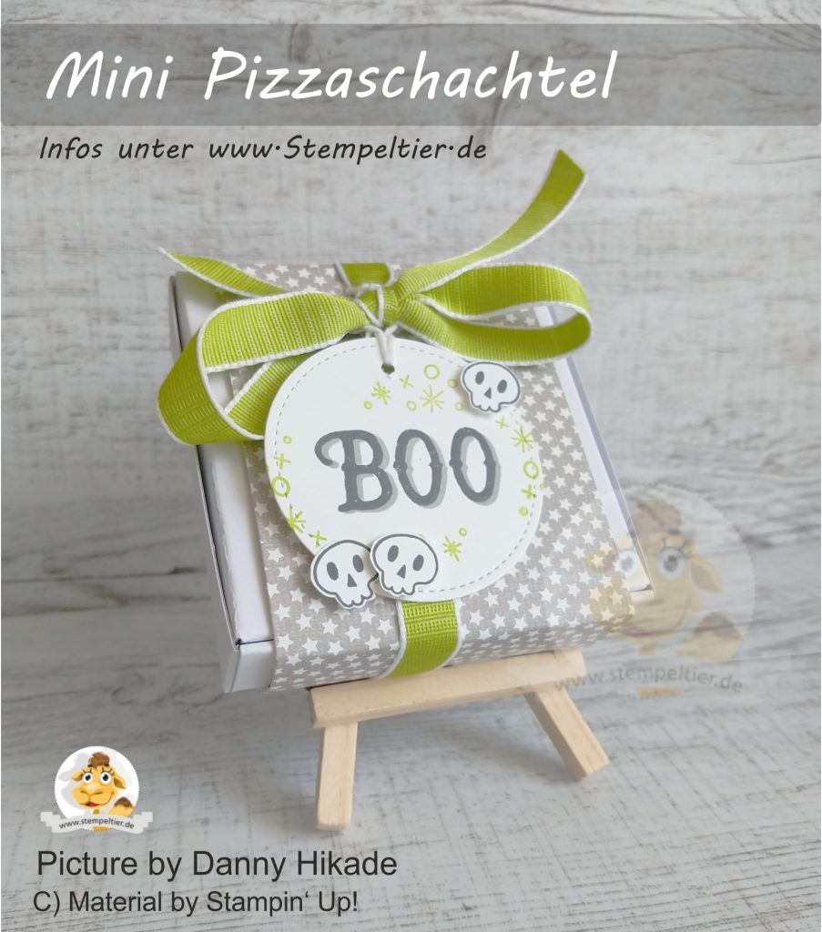 stampin up mini pizzaschachtel verpackung halloween goodie sternchen Warm hearted stempeltier box