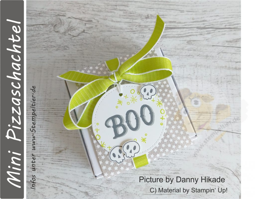 stampin up mini pizzaschachtel verpackung halloween goodie sternchen Warm hearted stempeltier box hüttenromantik DSP