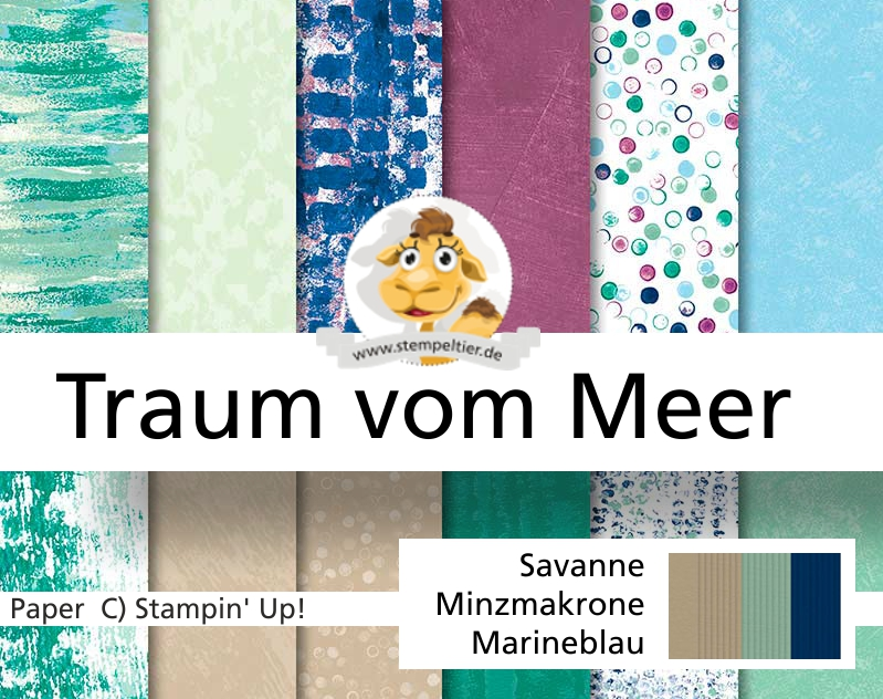 stampin up traum vom meer tranquil tide dsp textures maritim stempeltier