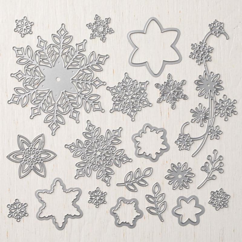 149692G framelits formen schneegestöber stampin up bestellen