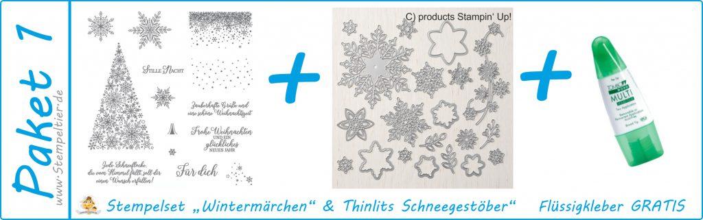 stampin up produktpaket wintermärchen und thinlits schneegestöber stempeltier