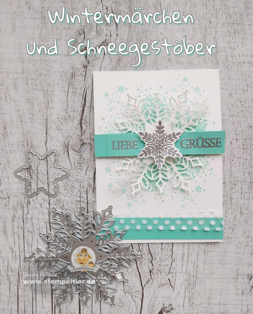 wintermärchen und thinlits schneegestöber stampin up stempeltier schneeflocke3