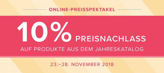 in Kürze:  Online Preisspektakel