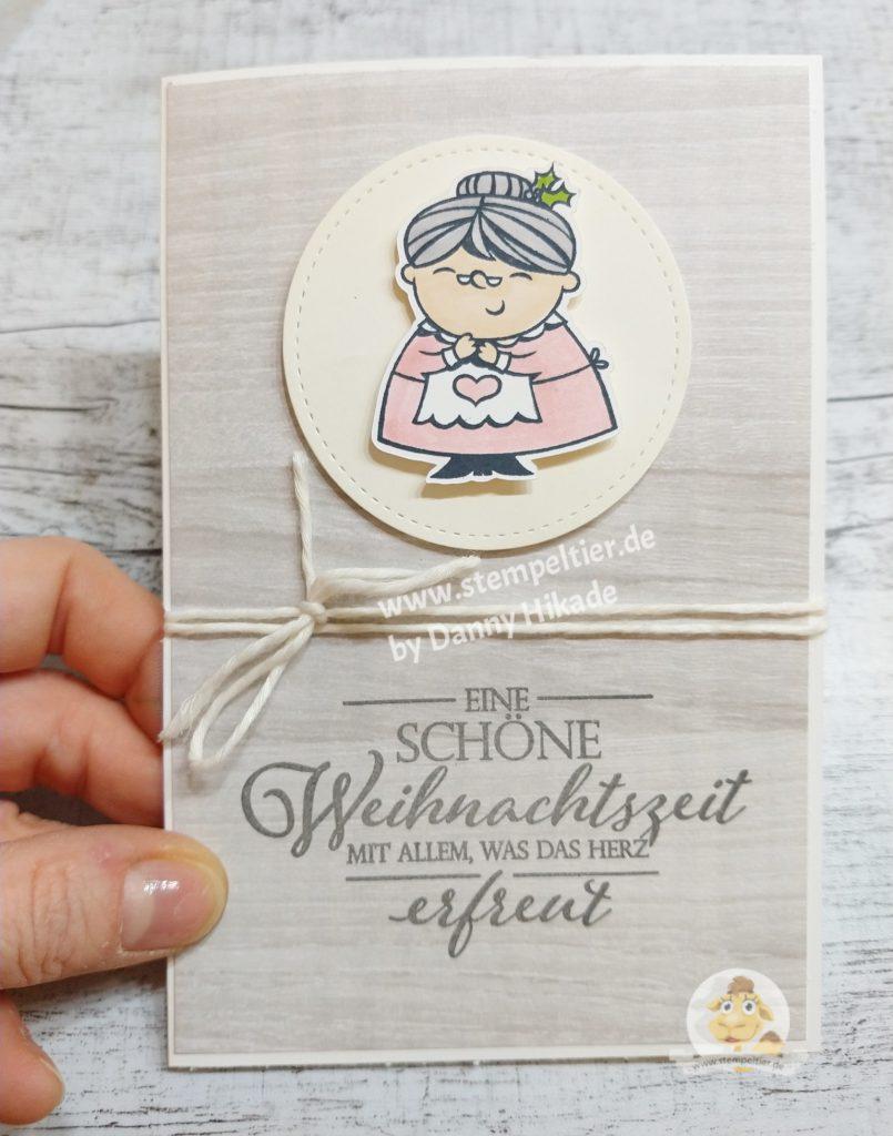 stampin up dsp hütten zauber weihnachtskarte anfänger oma einfach