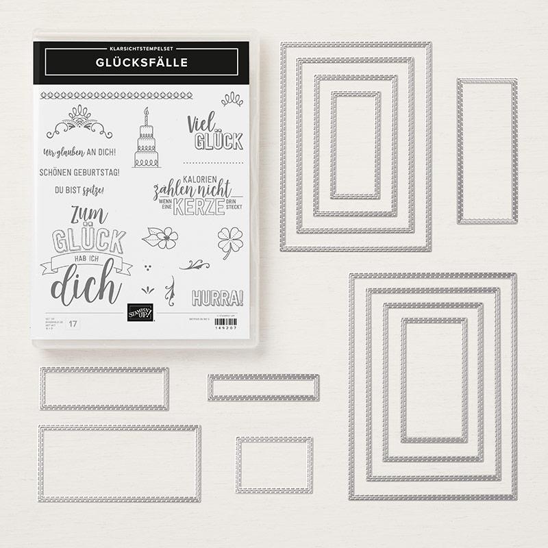 stampin up sparset glücksfälle rechtecke framelits rectangles