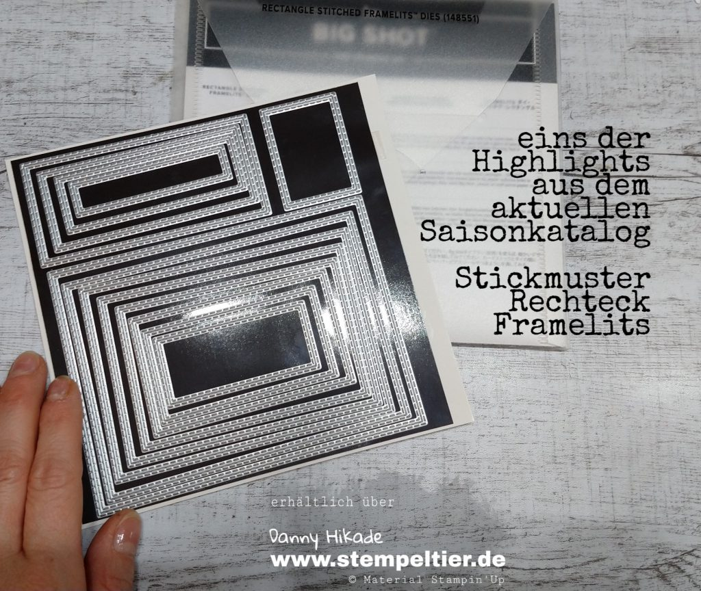 stampin up bestickte Rechtecke rectangle framelits 2019
