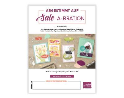 Stampin up abgestimmt auf die Saleabration 2019 flyer märz aktion stempeltier