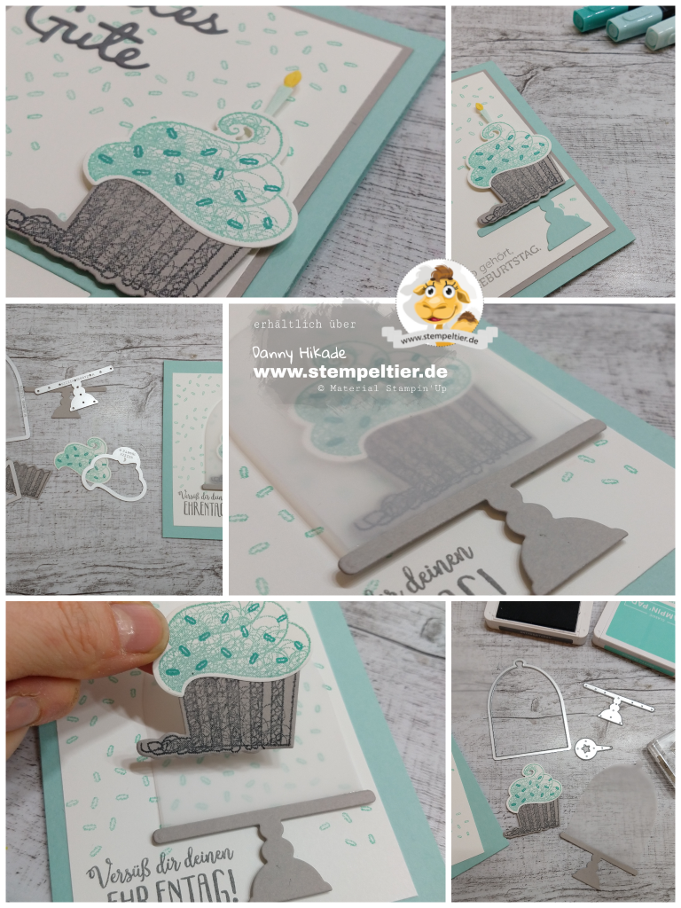 Stampin Up SAB cupcake Muffin süße Grüße call meine cupcake framelits Geburtstag Karte