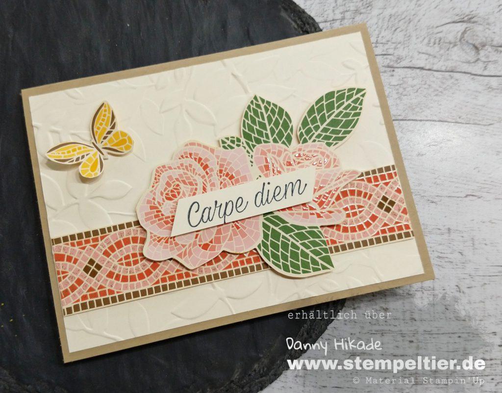 stampin up 2019 2020 Jahreskatalog märchenhaftes Mosaik DSP Rose Stempeltier