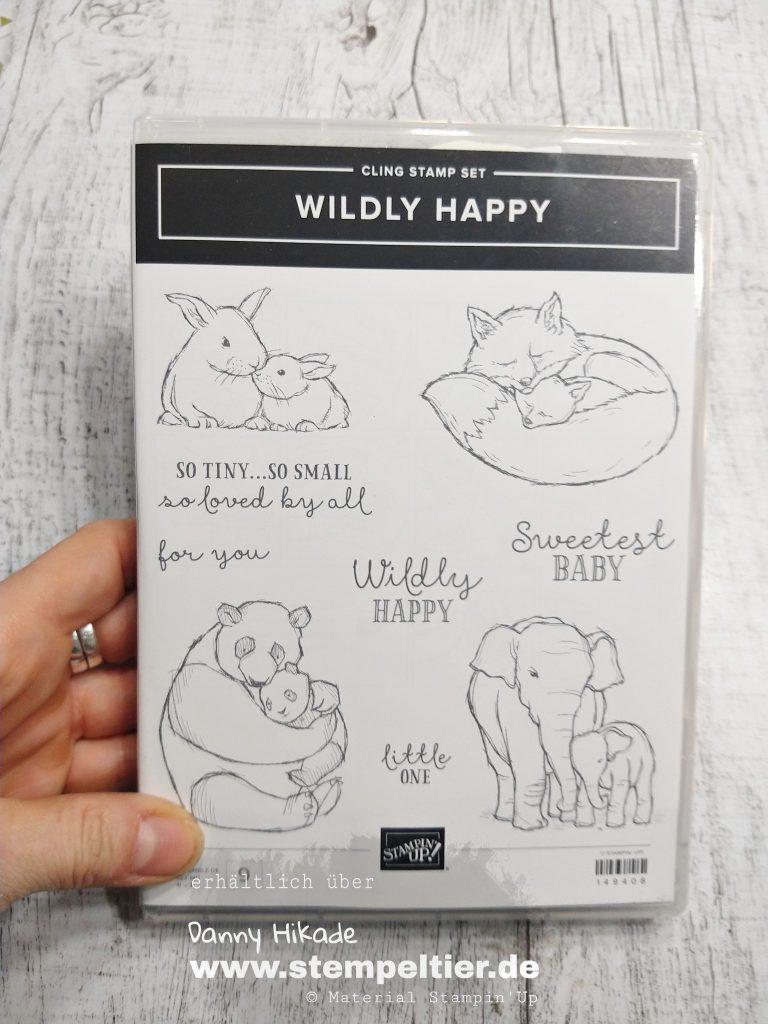 Stampin Up onstage wildly Happy elephant Baby im Babyglück Elefant Stempeltier