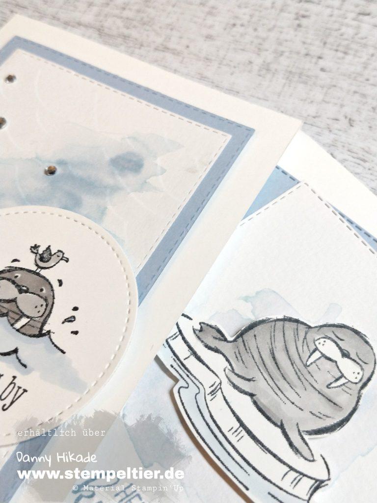 stampin up well walrus be friends walross martim Karte stempeltier geburtstag