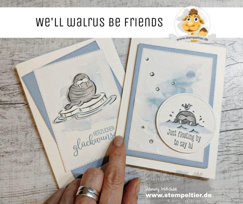 stampin up we'll walrus be friends walross martim Karte stempeltier geburtstag