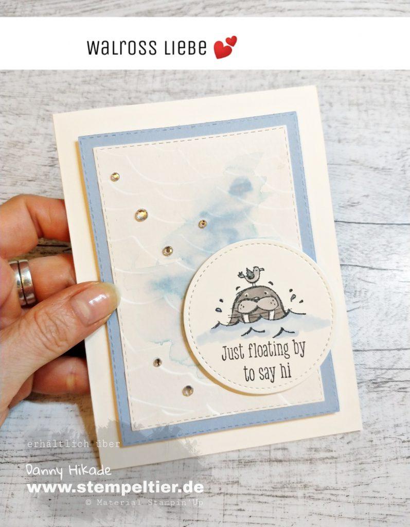 stampin up well walrus be friends walross martim Karte stempeltier
