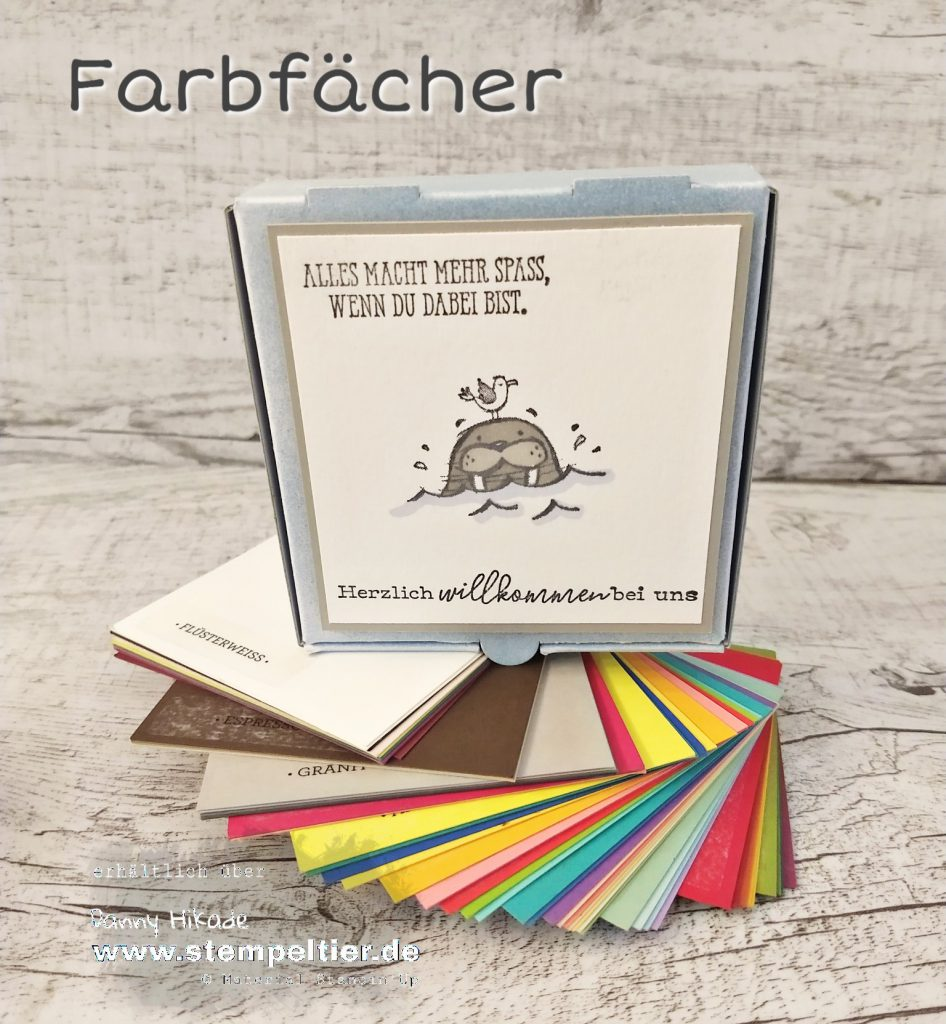 stampin up farbfächer well walrus be friends team stempeltier willkommensgeschenk