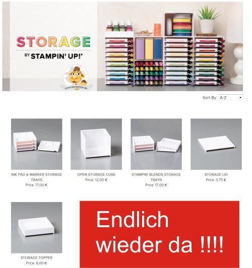 Stampin Up Storage aufbewahrung organisation bastelzimmer stempeltier bestellen