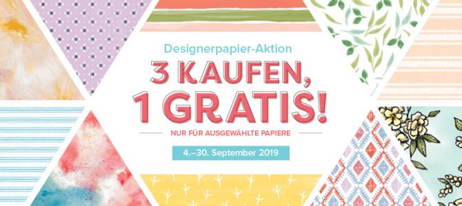 Designerpapier AKTION 2019