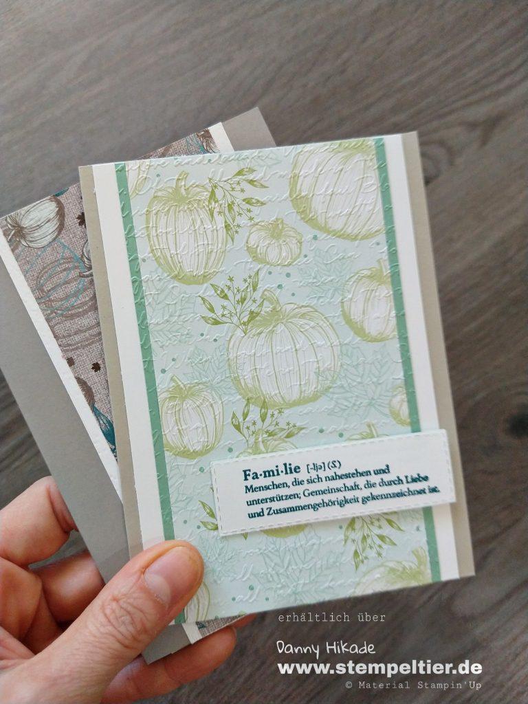 stampin up DSP Herbstfreuden Kürbis Stempeltier Kartenbasteln gut definiert