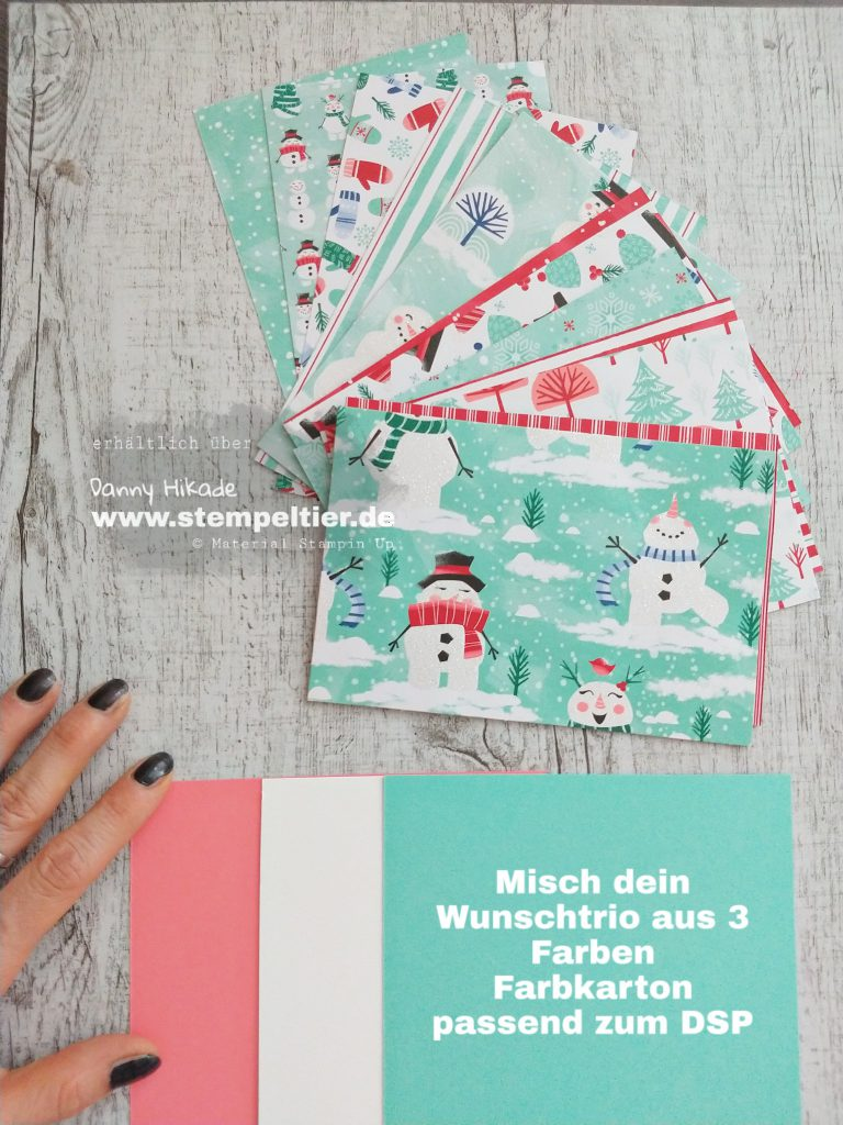 stampin up let it snow snowman season hurra es schneit schneemann DSP Stempeltier Papiershare