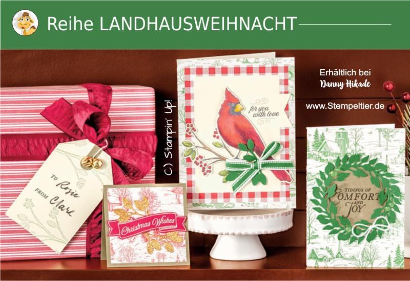 stampin up produktreihe Landhausweihnacht Kranz Herbst Winterkatalog 2019 bestellen stempeltiter