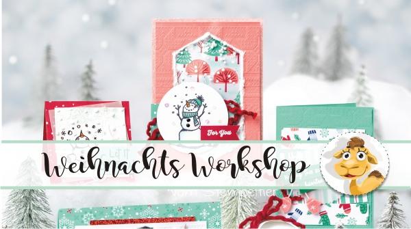 stampin up workshop allgäu kaufbeuren stempeltier weihnachten kartenbüffet