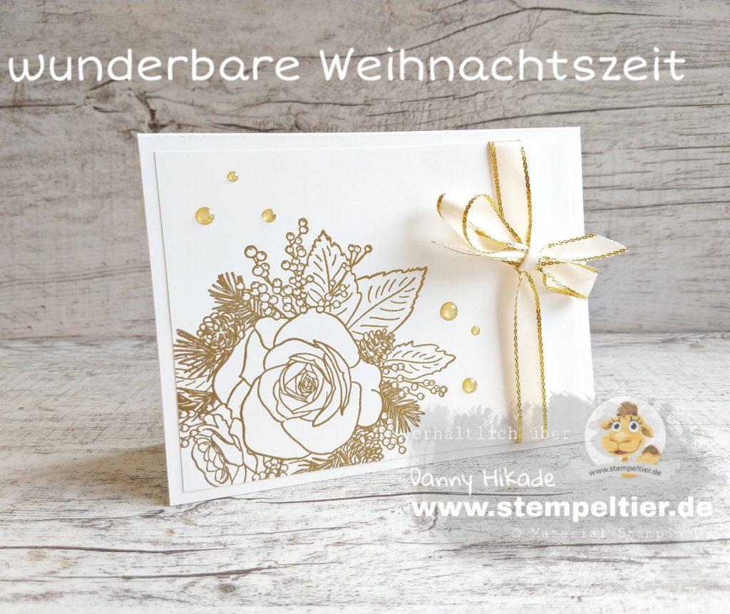 stampin-up-wunderbare-weihnachtszeit-produktreihe-festagsrose goldene Hochzeit karte stempeltier