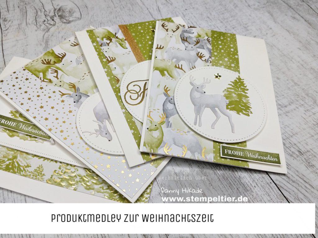 Stampin Up Produktmedley zur Weihnachtszeit hirsch stempeltier