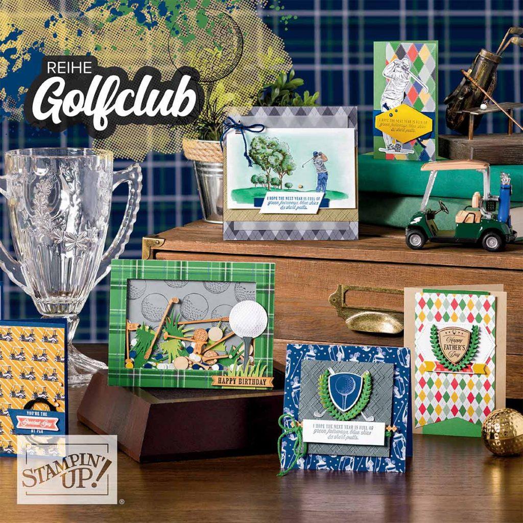 stampin up minikatalog 2020 stempeltier materialpaket golfclub