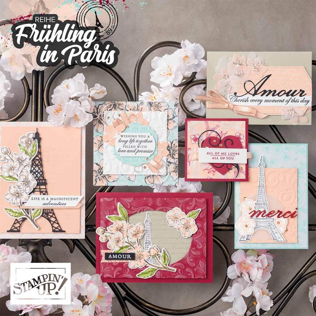 stampin up Frühling in Paris minikatalog 2020 stempeltier materialpaket