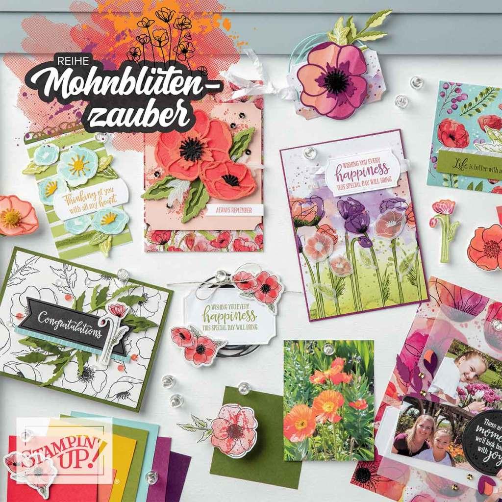stampin up Mohnblüten zauber minikatalog 2020 stempeltier materialpaket