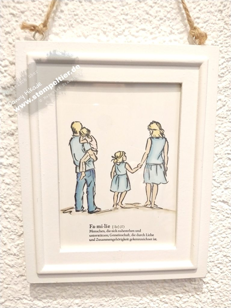 stampin up beautiful moments mannomann familie Bilderrahmen stempeltier