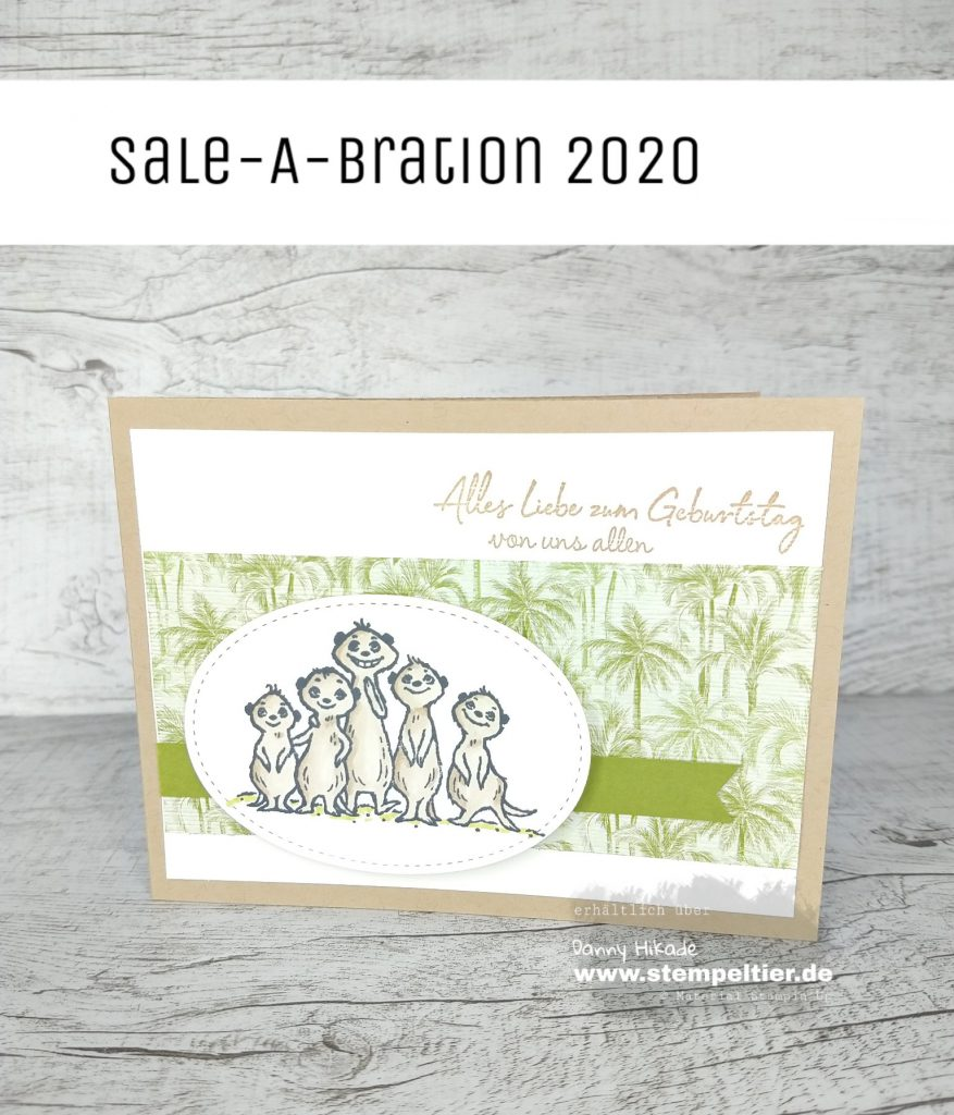 stampin up erdmännchen von uns allen the gangs all meer meerkat sab saleabration 2020