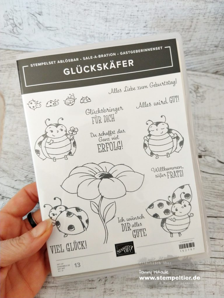stampin up marienkäfer little ladybug team stempeltier saleabration 2020 glückskäfer